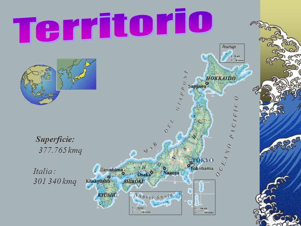 Superficie: 377.765 kmq Italia : 301 340 kmq