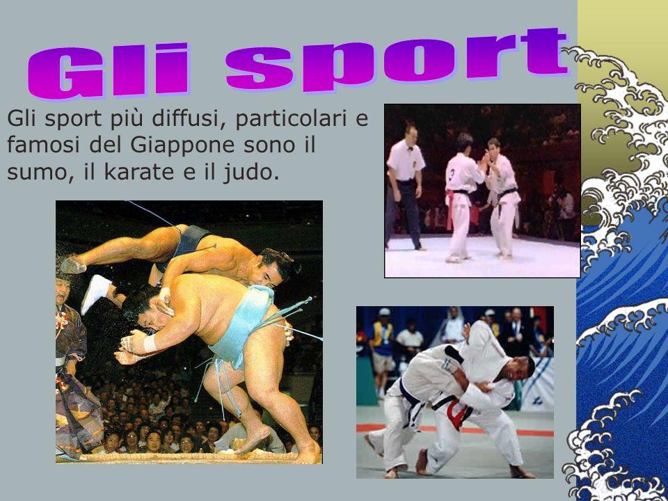 Gli sport più diffusi, particolari e famosi del Giappone sono il sumo, il karate e il judo.