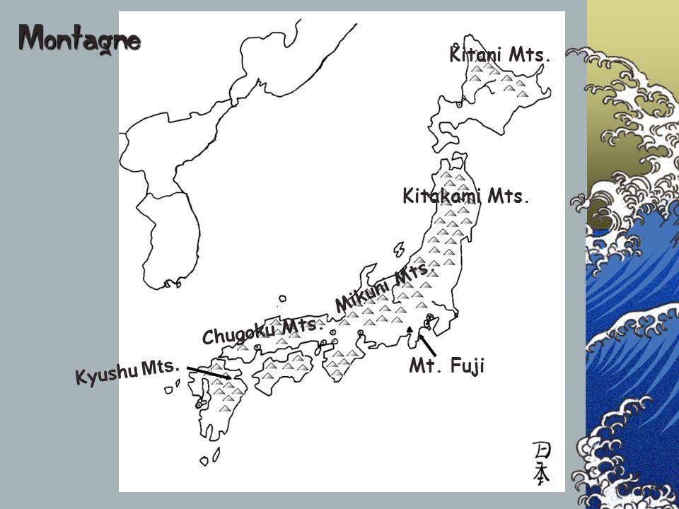 Kitani Mts. Kitakami Mts. Mikuni Mts. Chugoku Mts. Kyushu Mts. Mt. Fuji Montagne