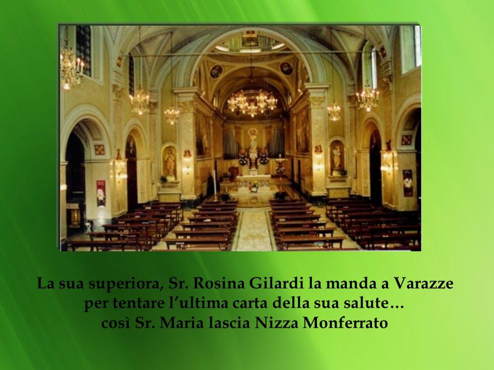 Per seri problemi di salute sr. Maria da Rosignano viene trasferita nellinfermeria di Nizza Monferrato, ma il passaggio di Don Rua, la recita di tre A