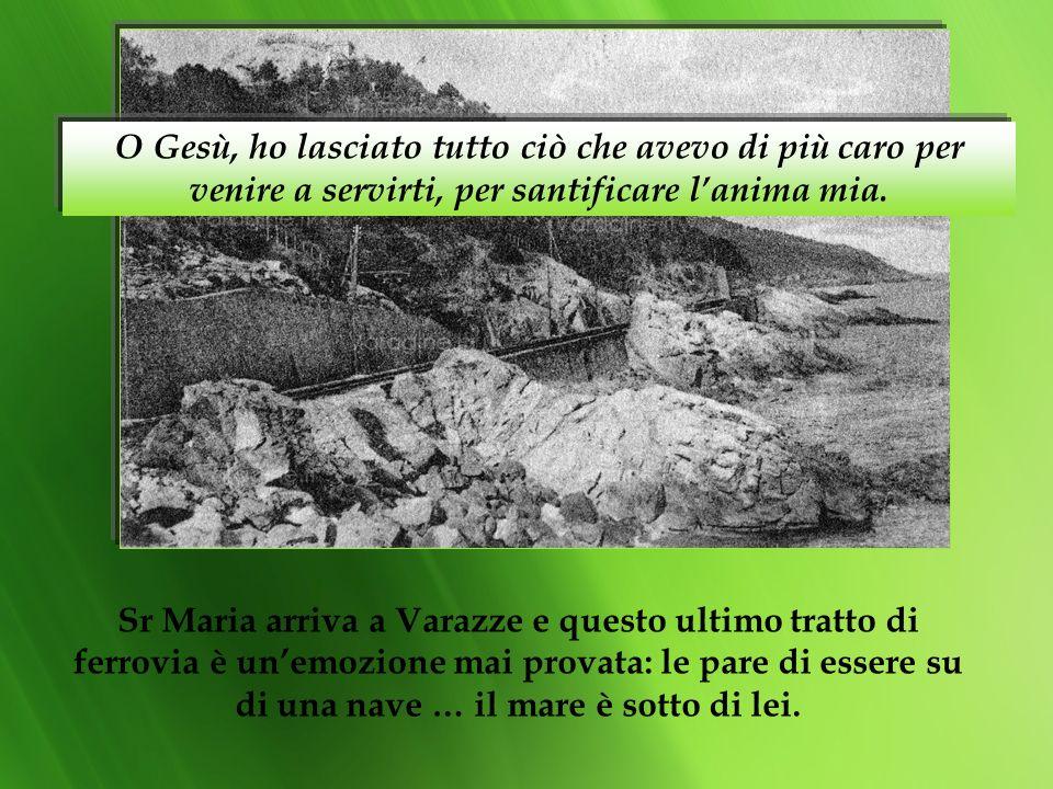 La sua superiora, Sr. Rosina Gilardi la manda a Varazze per tentare lultima carta della sua salute… così Sr. Maria lascia Nizza Monferrato