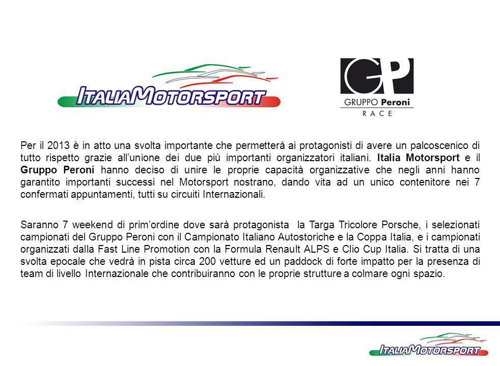 Per il 2013 è in atto una svolta importante che permetterà ai protagonisti di avere un palcoscenico di tutto rispetto grazie allunione dei due più importanti organizzatori italiani.
