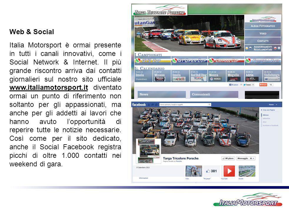Italia Motorsport è ormai presente in tutti i canali innovativi, come i Social Network & Internet. Il più grande riscontro arriva dai contatti giornal