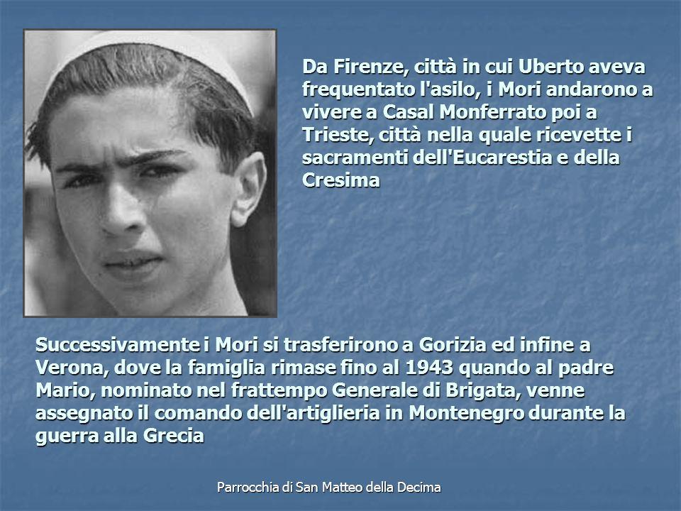 La famiglia si trasferì allora a Monticello di Levizzano Rangone, vicino a Modena.