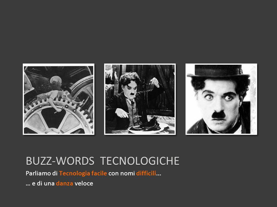 BUZZ-WORDS TECNOLOGICHE Parliamo di Tecnologia facile con nomi difficili... … e di una danza veloce
