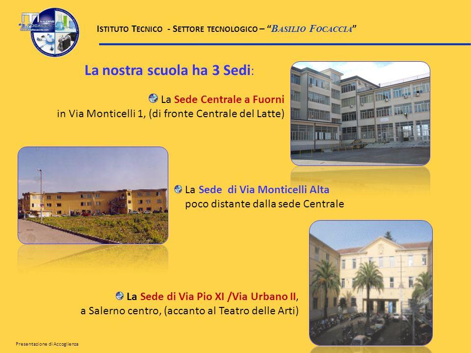 La nostra scuola ha 3 Sedi : La Sede Centrale a Fuorni in Via Monticelli 1, (di fronte Centrale del Latte) La Sede di Via Monticelli Alta poco distant
