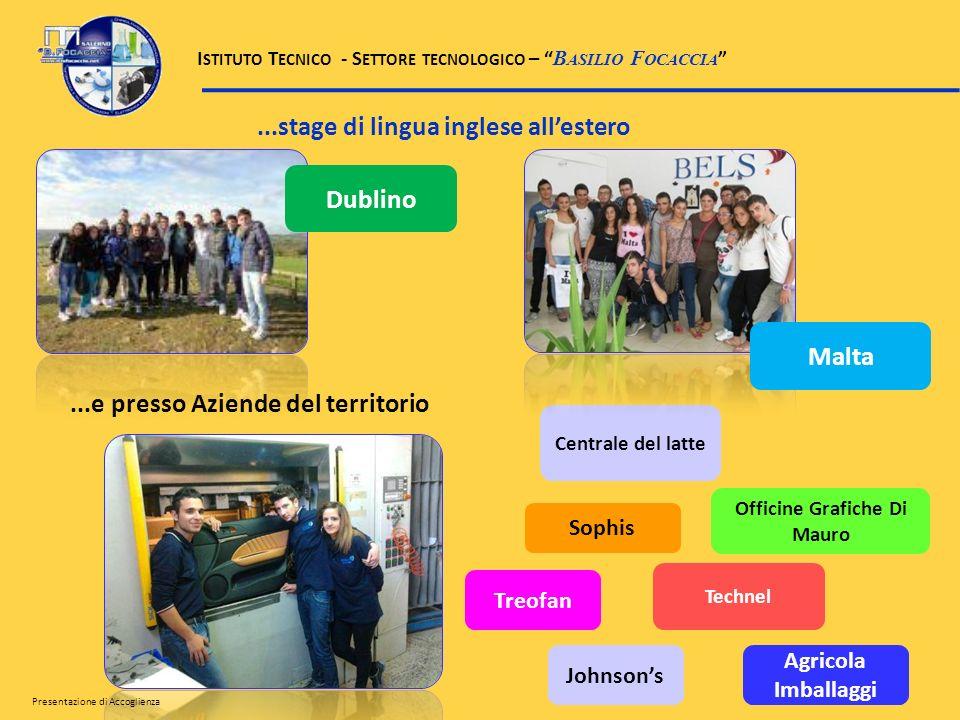 ...stage di lingua inglese allestero...e presso Aziende del territorio Officine Grafiche Di Mauro Sophis Treofan Centrale del latte Technel Agricola I