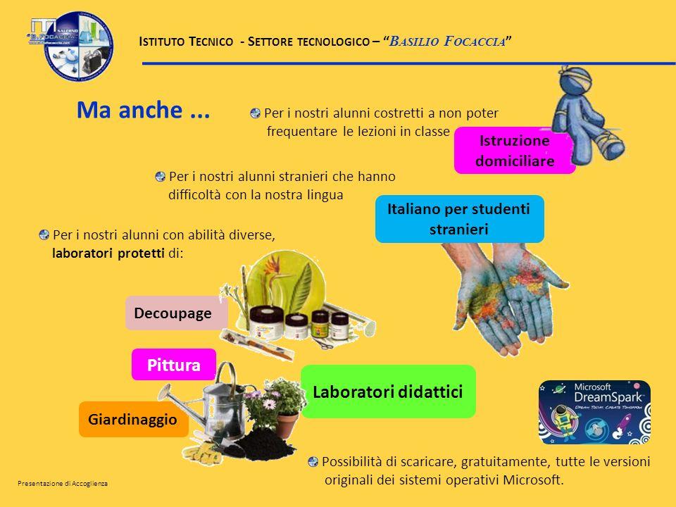 Italiano per studenti stranieri Istruzione domiciliare Ma anche... Per i nostri alunni costretti a non poter frequentare le lezioni in classe Per i no