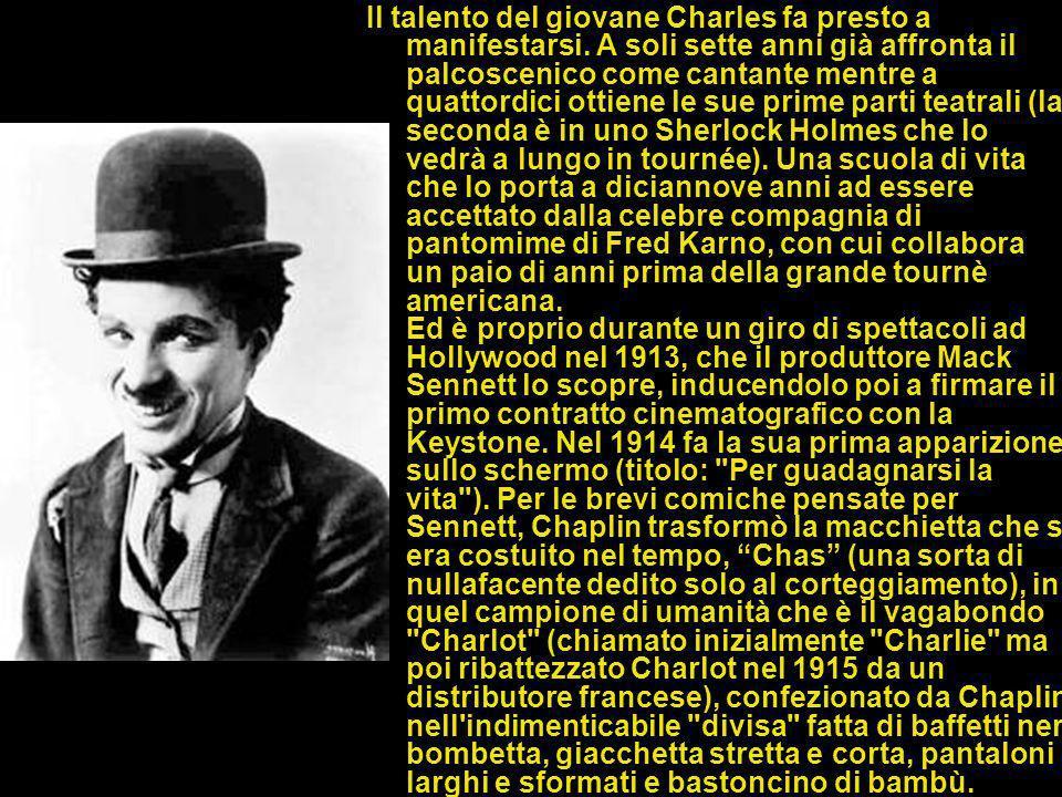 UN INFANZIA DIFFICILE Charles Spencer Chaplin nasce il 16 aprile 1889, a Londra, nella tipica periferia suburbana. Il padre era guitto del musuc-hall