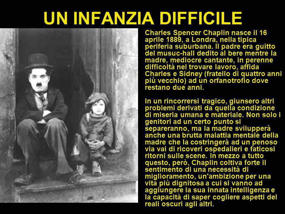 UN INFANZIA DIFFICILE Charles Spencer Chaplin nasce il 16 aprile 1889, a Londra, nella tipica periferia suburbana.