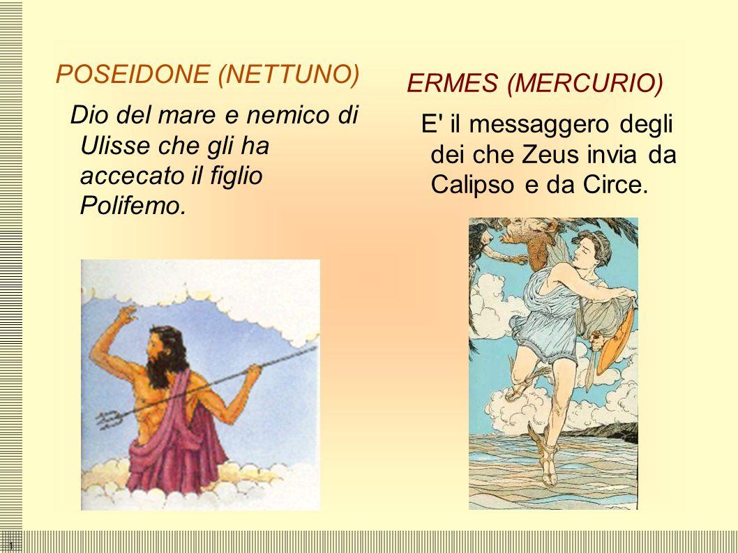 1010 GLI DEI DELL' OLIMPO Atena (Minerva) Dea della sapienza e della saggezza che protegge e aiuta Ulisse.