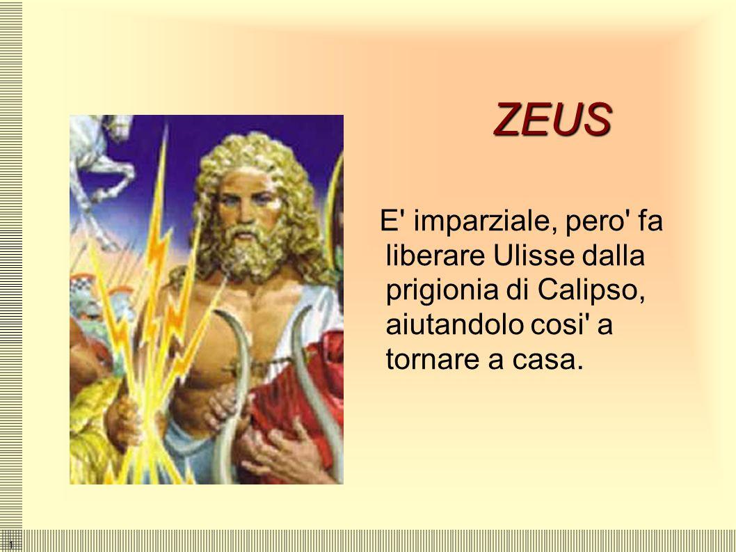 1 POSEIDONE (NETTUNO) Dio del mare e nemico di Ulisse che gli ha accecato il figlio Polifemo. ERMES (MERCURIO) E' il messaggero degli dei che Zeus inv