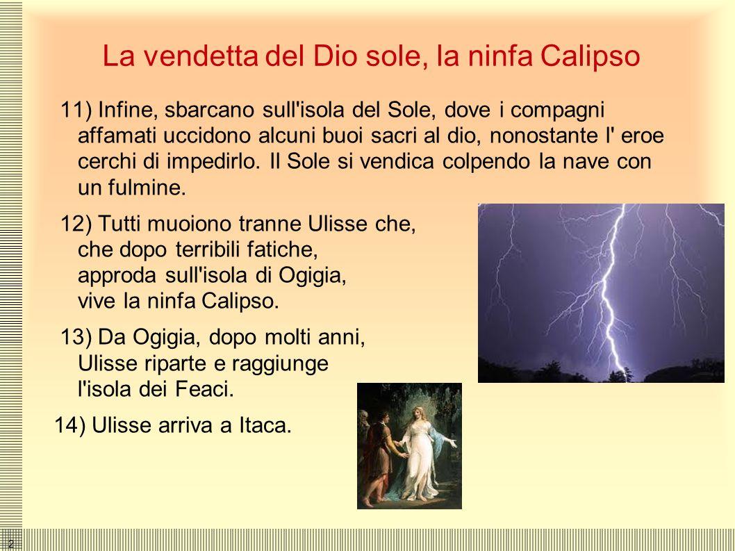 1919 Le terribili predizioni, le Sirene, Scilla e Cariddi 8) Giunto nelle terre dei Cimmeri, Ulisse rievoca l'anima dell'indovino Tiresia che gli pred