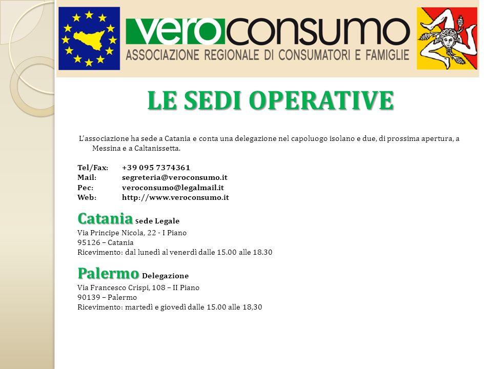Lassociazione ha sede a Catania e conta una delegazione nel capoluogo isolano e due, di prossima apertura, a Messina e a Caltanissetta. Tel/Fax: +39 0