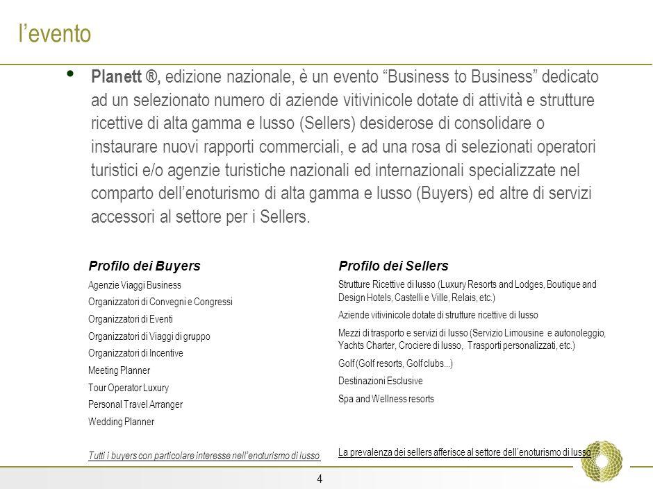 3 la nostra storia Planett ®, Private Luxury Hospitality, è lo spin off di Winett Taste&Trade ®, un evento Business to Business dedicato a importatori