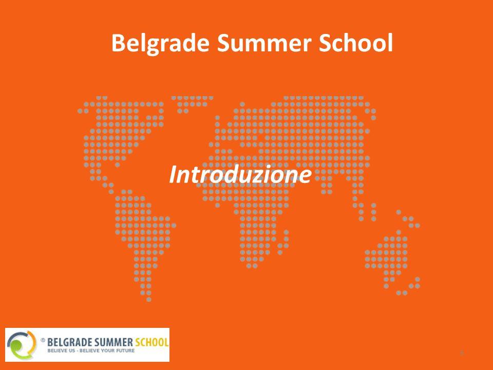 14 Belgrade Summer School Il programma