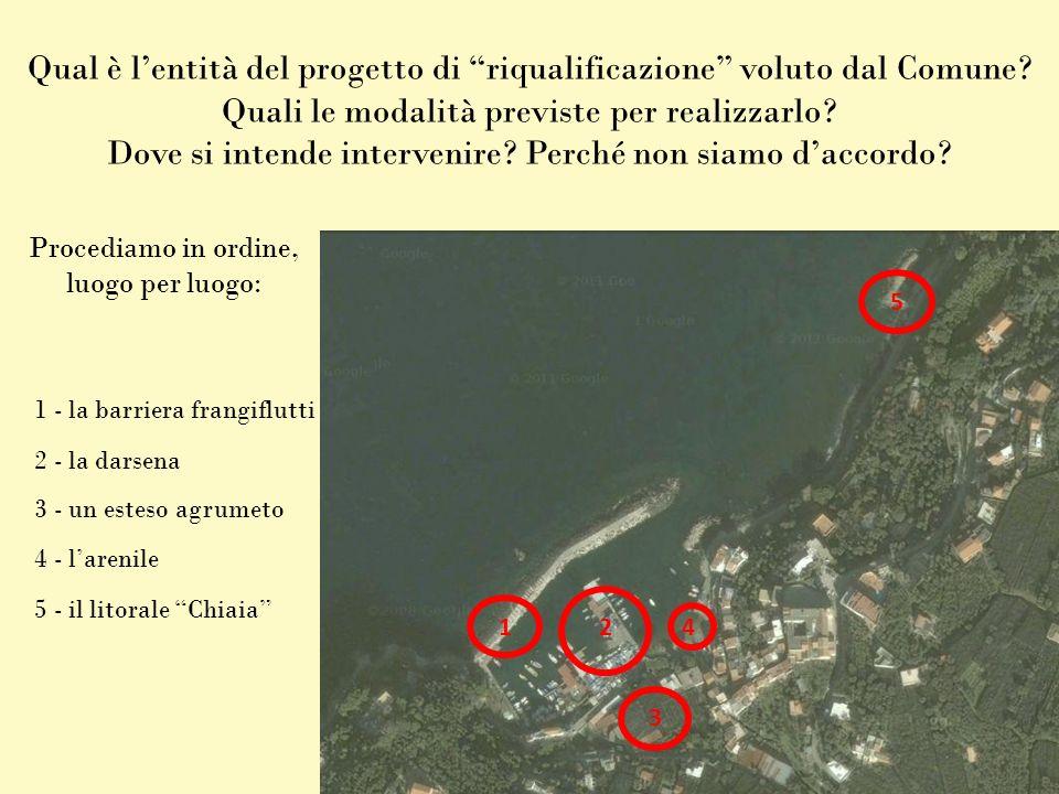 1 – La barriera frangiflutti COSA vogliono realizzare Allungare e allargare la barriera-molo, eliminando la sua attuale angolatura.