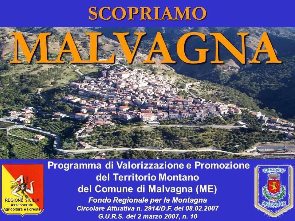 SCOPRIAMOMALVAGNA Programma di Valorizzazione e Promozione del Territorio Montano del Comune di Malvagna (ME) Fondo Regionale per la Montagna Circolar
