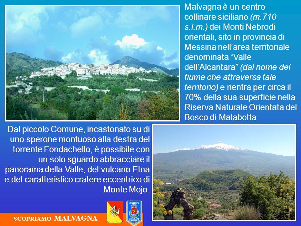 Malvagna Malvagna si estende su una superficie di 6,90 Kmq ed i suoi abitanti, denominati malvagnesi, sono circa 1.100.