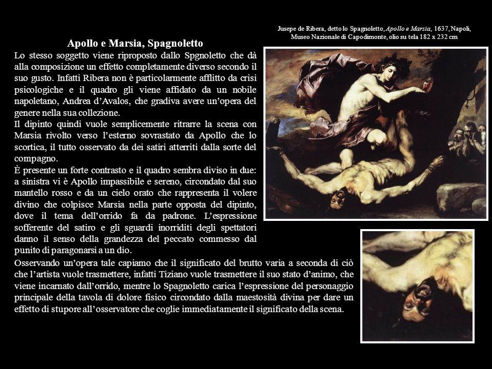 Jusepe de Ribera, detto lo Spagnoletto, Apollo e Marsia, 1637, Napoli, Museo Nazionale di Capodimonte, olio su tela 182 x 232 cm Apollo e Marsia, Spag