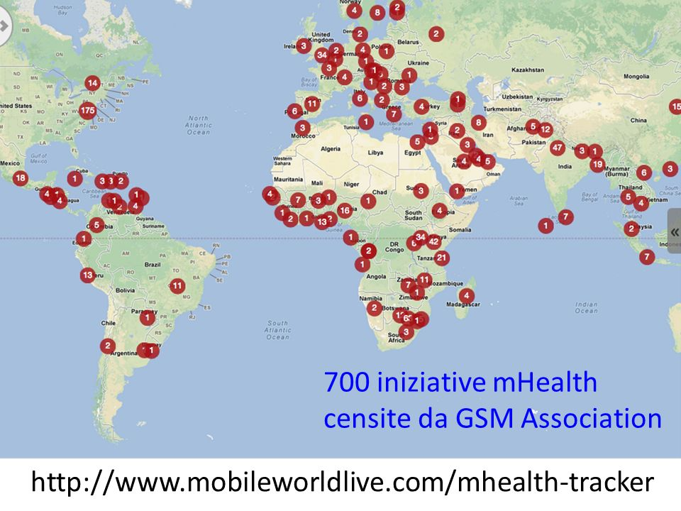700 iniziative mHealth censite da GSM Association
