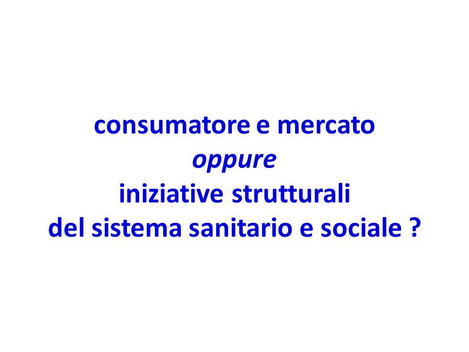 consumatore e mercato oppure iniziative strutturali del sistema sanitario e sociale ?