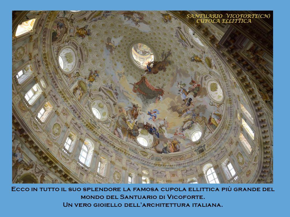 Ecco in tutto il suo splendore la famosa cupola ellittica più grande del mondo del Santuario di Vicoforte. Un vero gioiello dellarchitettura italiana.