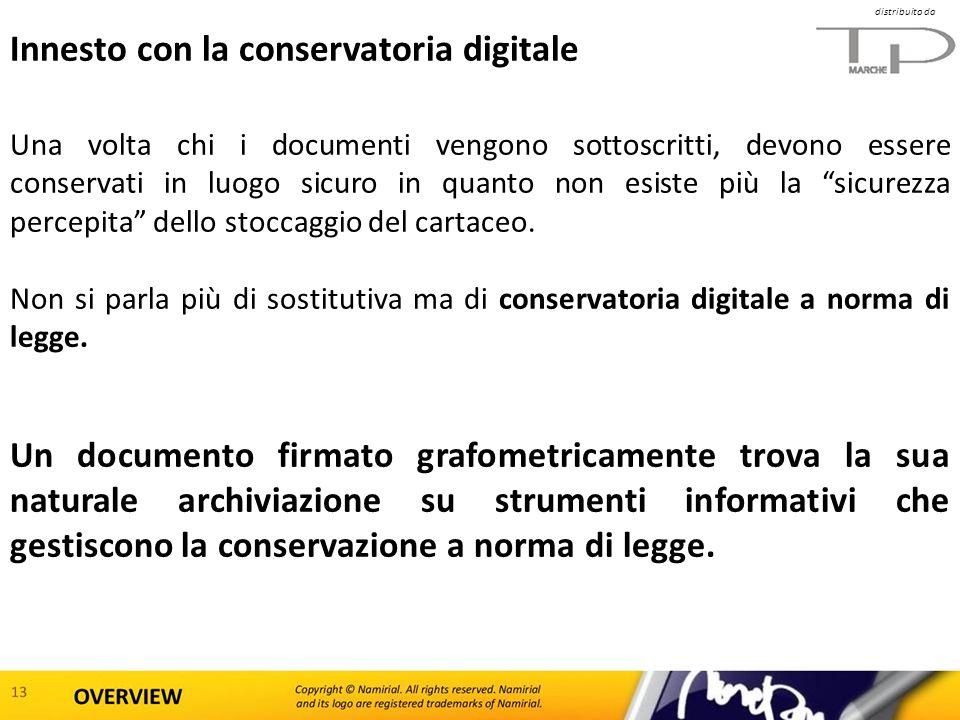 distribuito da Innesto con la conservatoria digitale Una volta chi i documenti vengono sottoscritti, devono essere conservati in luogo sicuro in quant