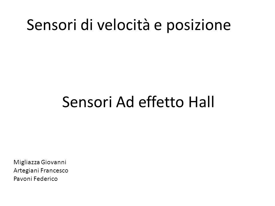 Sensori Ad effetto Hall Migliazza Giovanni Artegiani Francesco Pavoni Federico Sensori di velocità e posizione