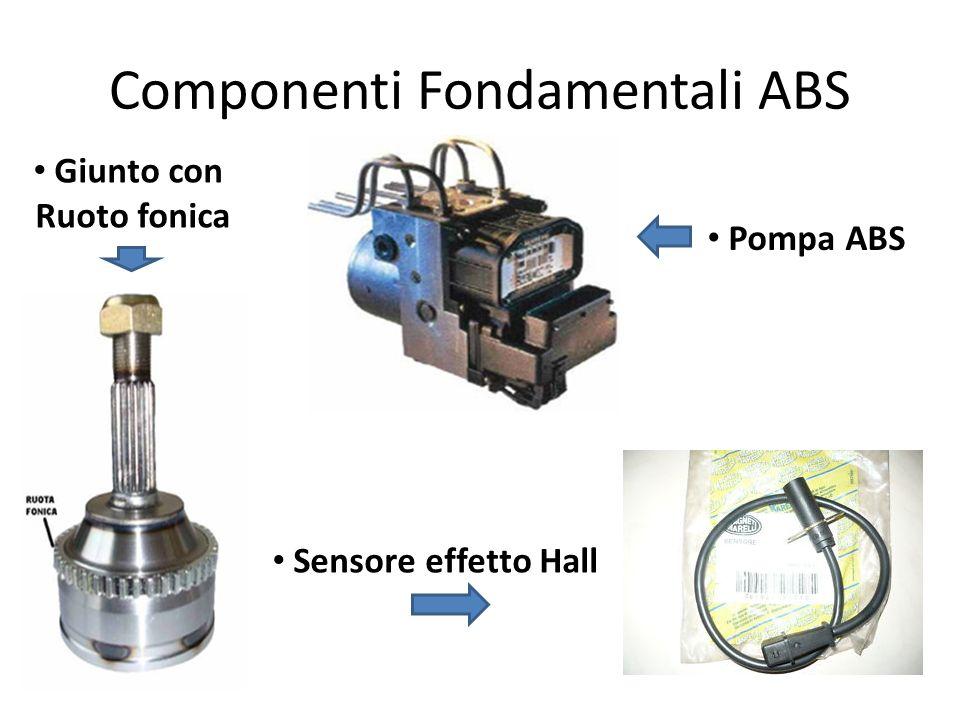 Componenti Fondamentali ABS Pompa ABS Giunto con Ruoto fonica Sensore effetto Hall