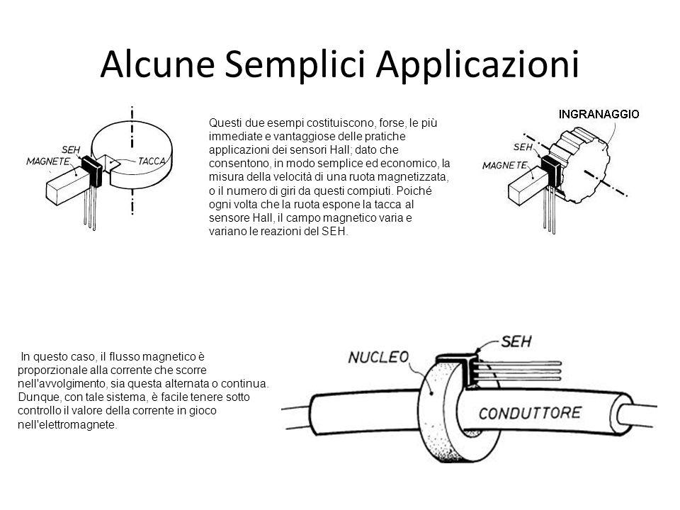 Alcune Semplici Applicazioni Questi due esempi costituiscono, forse, le più immediate e vantaggiose delle pratiche applicazioni dei sensori Hall; dato