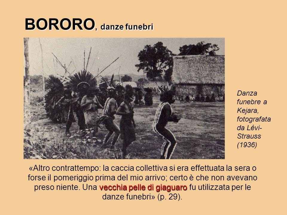 BORORO, danze funebri vecchia pelle di giaguaro «Altro contrattempo: la caccia collettiva si era effettuata la sera o forse il pomeriggio prima del mi