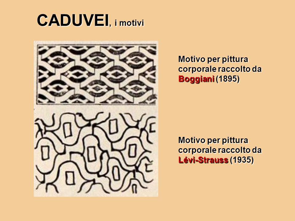 Motivo per pittura corporale raccolto da Boggiani (1895) Motivo per pittura corporale raccolto da Lévi-Strauss (1935) CADUVEI, i motivi