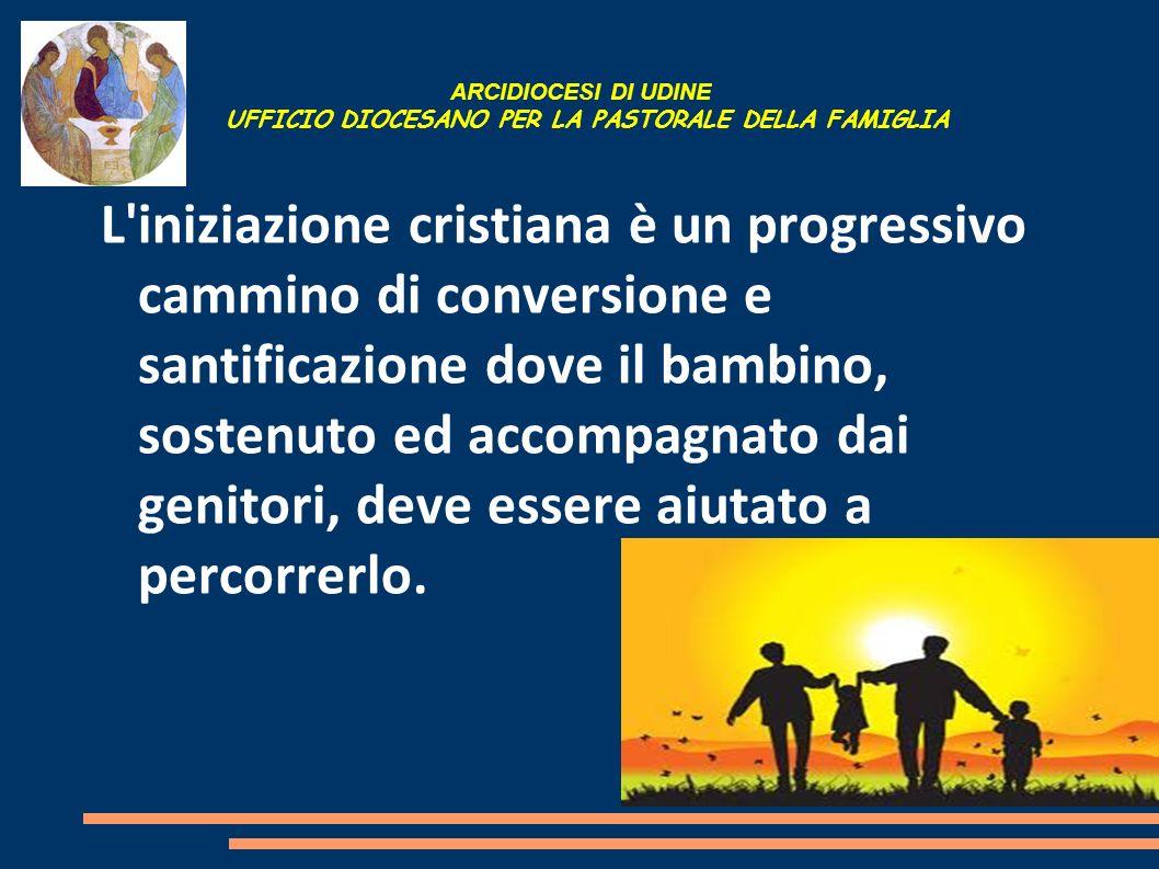 ARCIDIOCESI DI UDINE UFFICIO DIOCESANO PER LA PASTORALE DELLA FAMIGLIA L'iniziazione cristiana è un progressivo cammino di conversione e santificazion