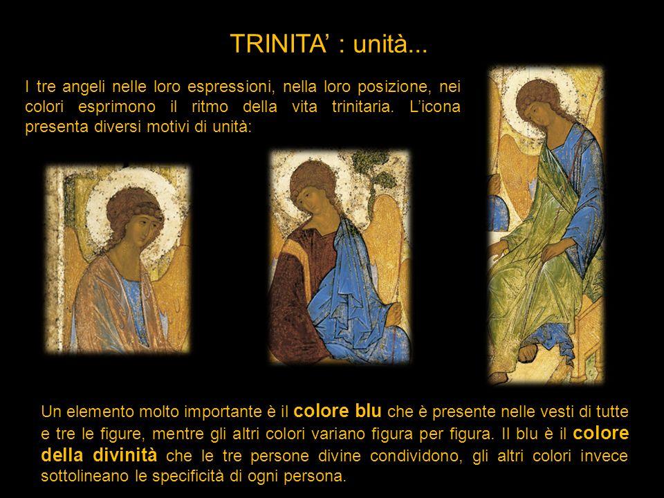 I tre angeli nelle loro espressioni, nella loro posizione, nei colori esprimono il ritmo della vita trinitaria. Licona presenta diversi motivi di unit