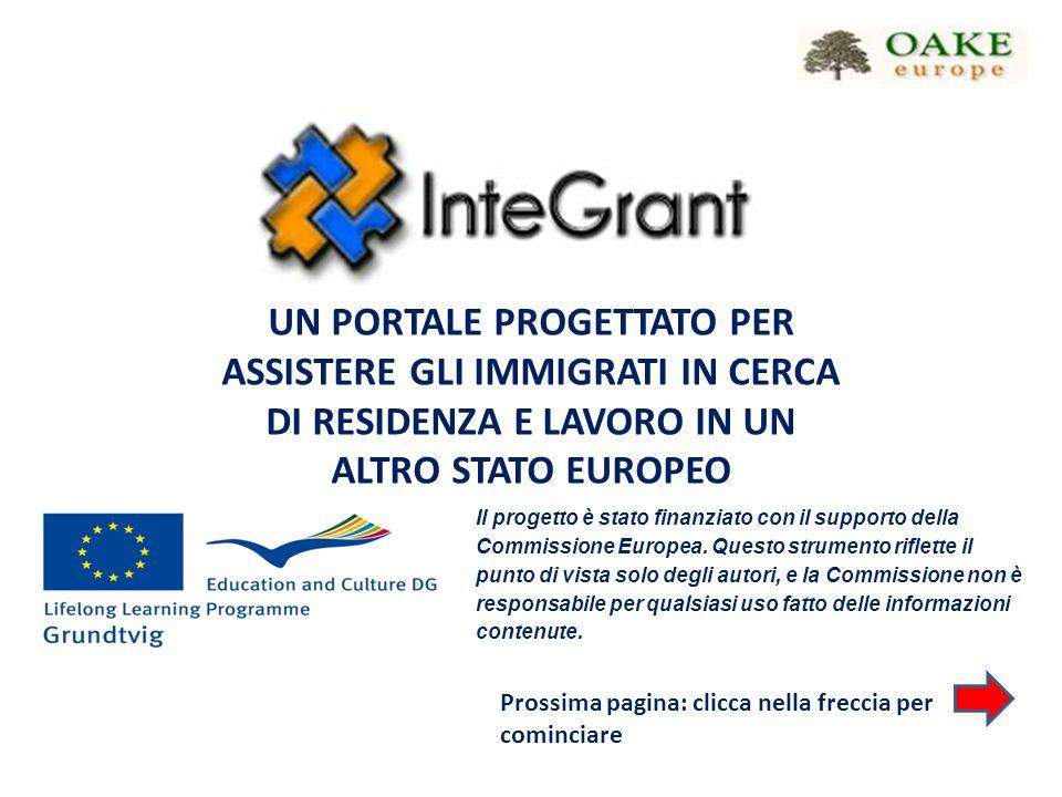 Il progetto è stato finanziato con il supporto della Commissione Europea.