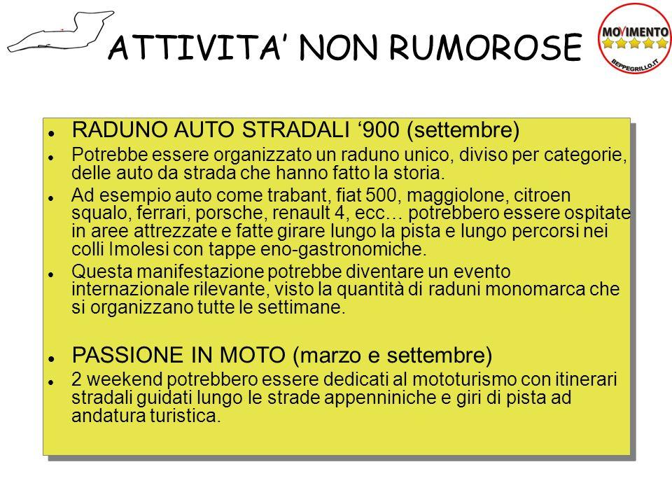 RADUNO AUTO STRADALI 900 (settembre) Potrebbe essere organizzato un raduno unico, diviso per categorie, delle auto da strada che hanno fatto la storia