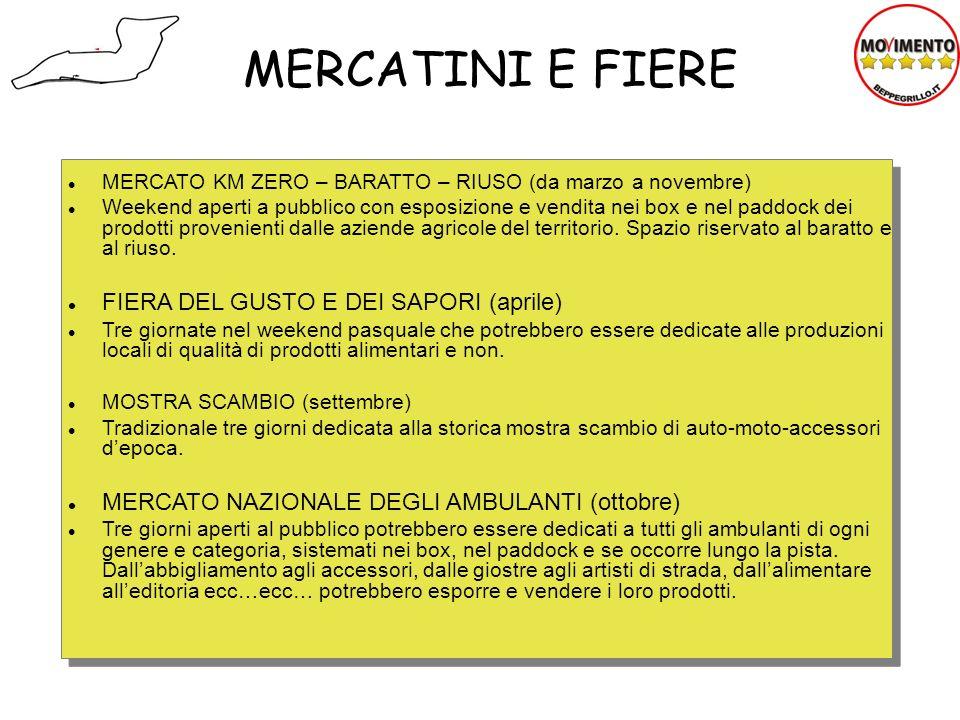 MERCATINI E FIERE MERCATO KM ZERO – BARATTO – RIUSO (da marzo a novembre) Weekend aperti a pubblico con esposizione e vendita nei box e nel paddock de