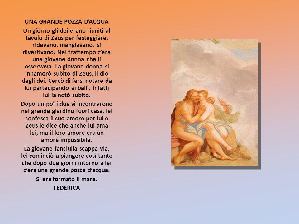 IL MITO DELLA CREAZIONE scelto da VALERIA Allinizio cè Caos, un grande vuoto.