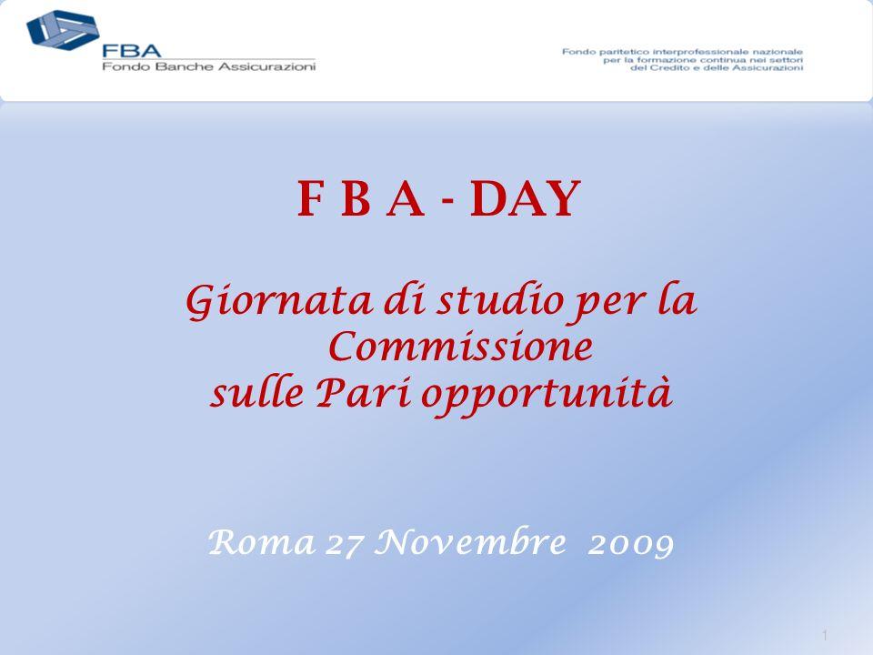 1 F B A - DAY Giornata di studio per la Commissione sulle Pari opportunità Roma 27 Novembre 2009