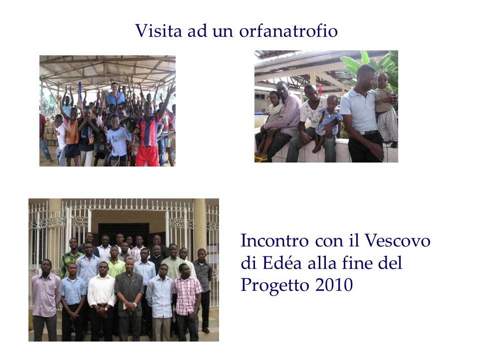Visita ad un orfanatrofio Incontro con il Vescovo di Edéa alla fine del Progetto 2010