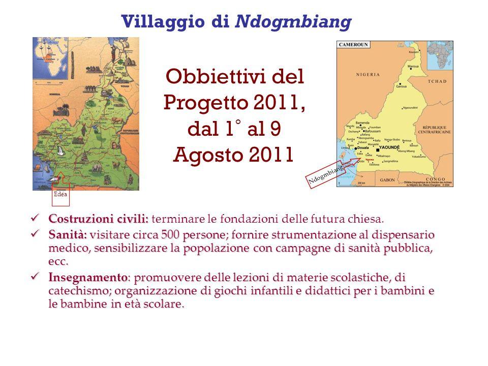 Villaggio di Ndogmbiang Costruzioni civili: Costruzioni civili: terminare le fondazioni delle futura chiesa.