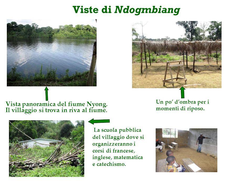 Viste di Ndogmbiang Vista panoramica del fiume Nyong.