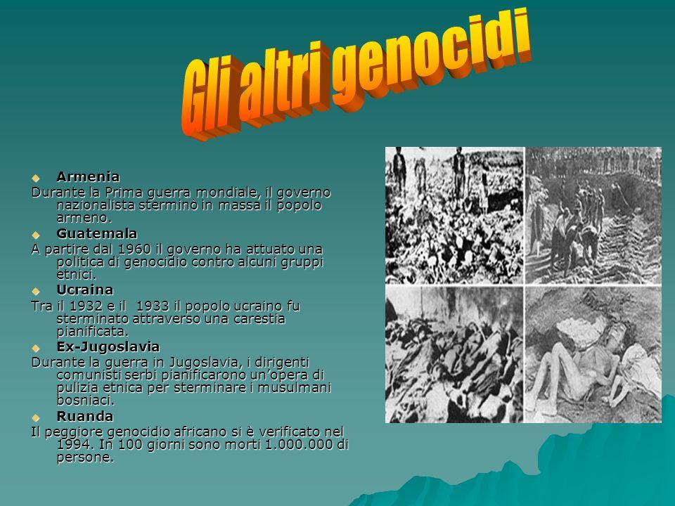 Armenia Armenia Durante la Prima guerra mondiale, il governo nazionalista sterminò in massa il popolo armeno.