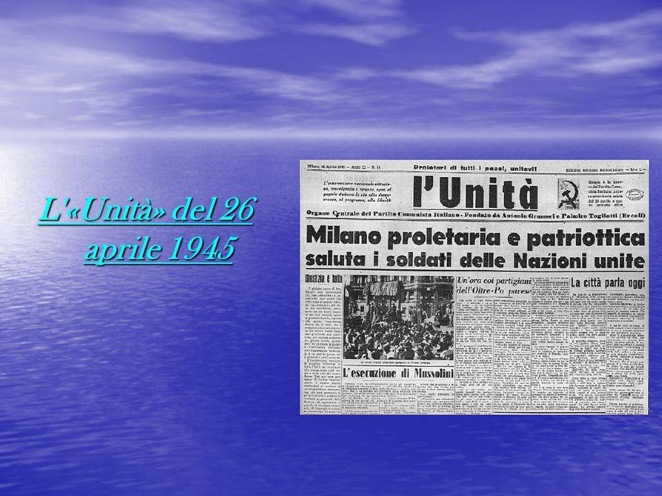 L'«Unità» del 26 aprile 1945