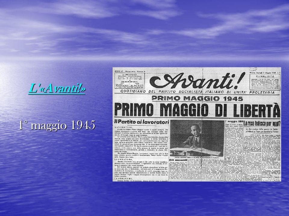 L'«Avanti!» 1° maggio 1945