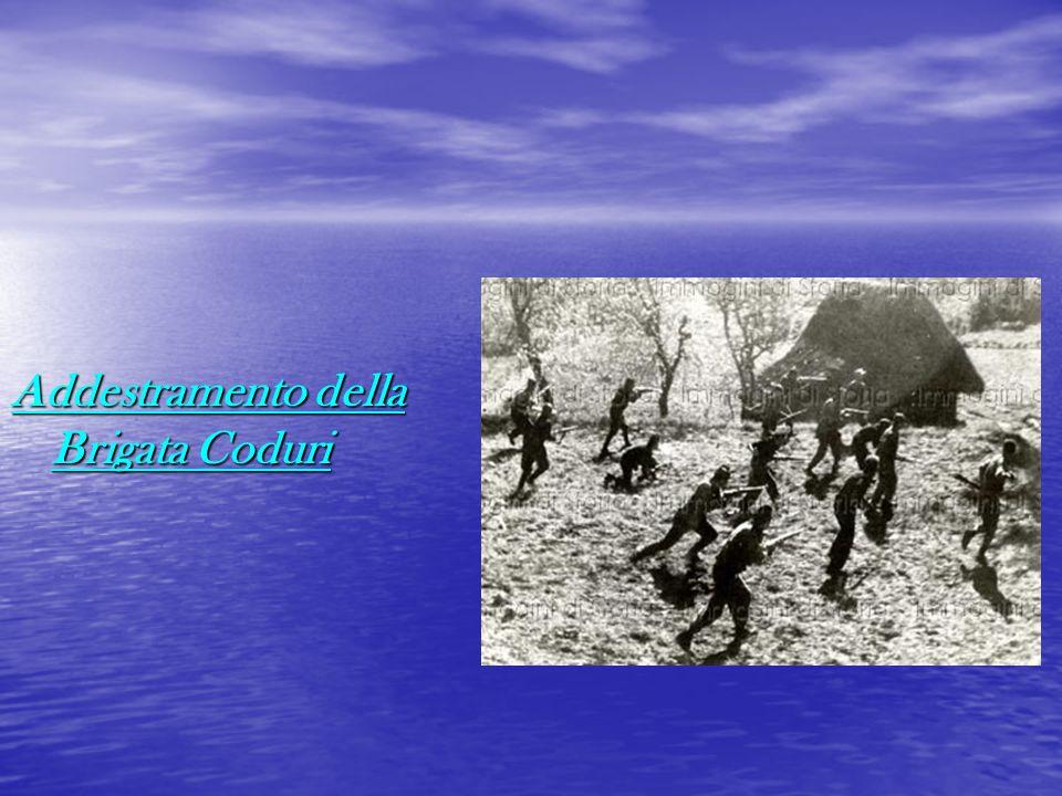 Addestramento della Brigata Coduri