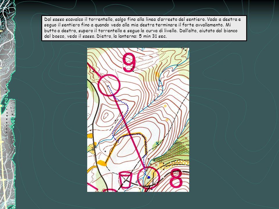 Ad essere bravi si mantiene la curva di livello (comunque si corre nel bianco) e ci si ritrova dallaltra parte dellavvallamento.