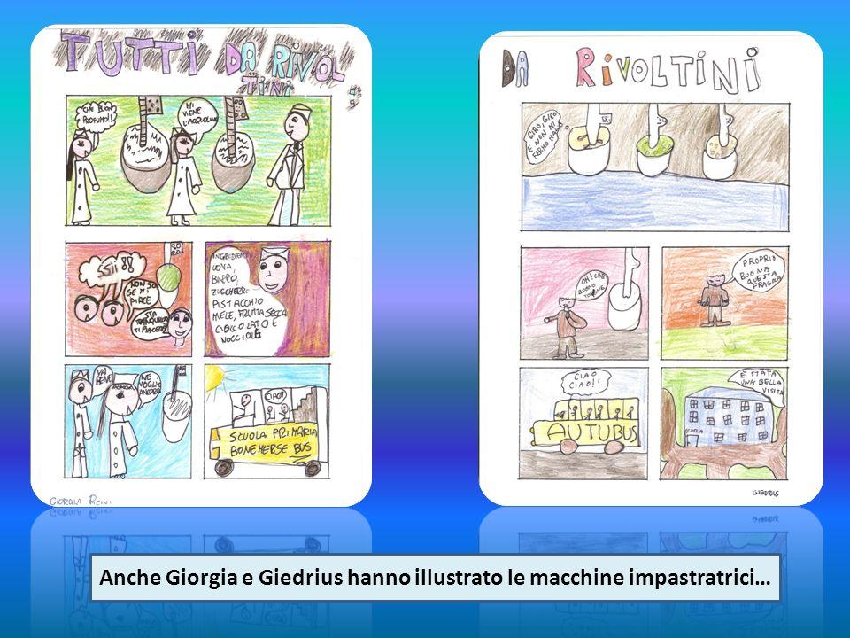 Anche Giorgia e Giedrius hanno illustrato le macchine impastratrici…