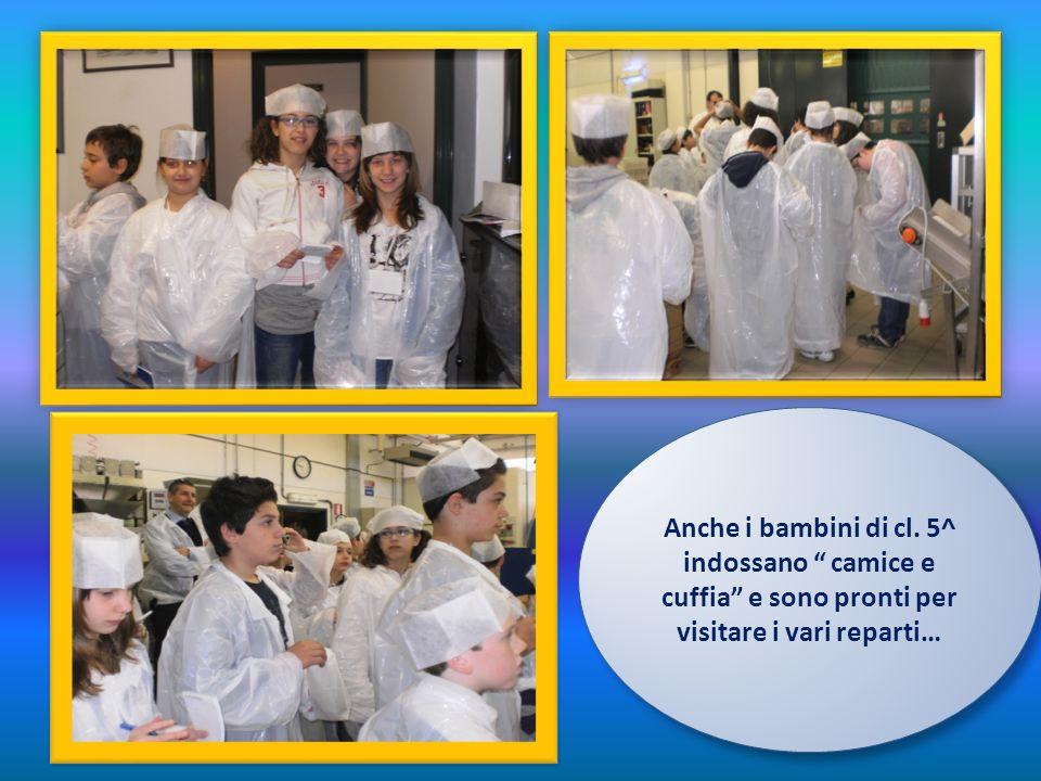 Anche i bambini di cl. 5^ indossano camice e cuffia e sono pronti per visitare i vari reparti… Anche i bambini di cl. 5^ indossano camice e cuffia e s